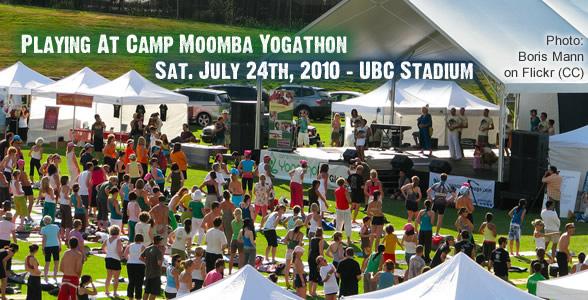 Special Gig: Camp Moomba Yogathon Sat July 24